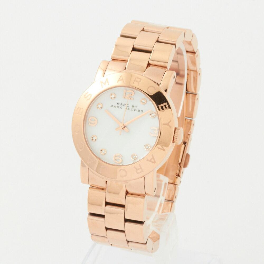 マークバイマークジェイコブス 腕時計 レディース MARC BY MARCJACOBS MBM3077 ピンクゴールド×ホワイト エイミー:Amy  【お取り寄せ】 マークバイマークジェイコブス 時計 レディースウォッチ