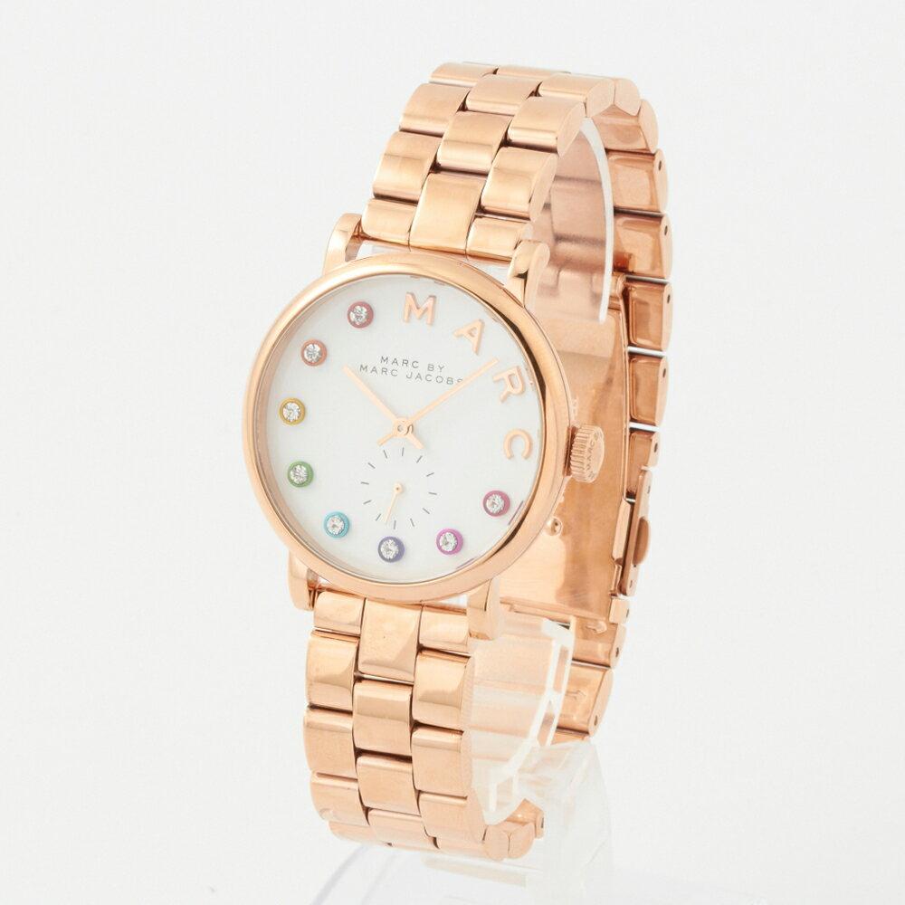 マークバイマークジェイコブス 腕時計 レディース MARC BY MARCJACOBS MBM3411 ピンクゴールド×ホワイト スリム:The Slim  【お取り寄せ】 マークバイマークジェイコブス 時計 レディースウォッチ