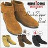 ミネトンカ 靴 ショートブーツ MINNETONKA バック ZIPRER ブーツ 選べる4色