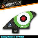 Komunity Bullseye Nubsters-N3 グリーン ナブスターフィン ミニ スタビライザーフィン 5プラグ コミュニティ ケリースレーター FCS KELLY