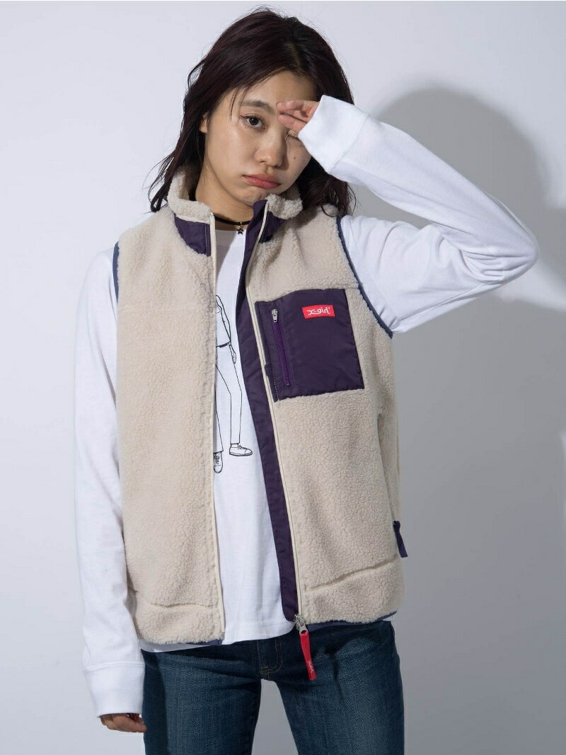 X-girl FAUX SHEARLING FLEECE VEST エックスガール【送料無料】