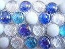 ガラス☆モザイクタイルグラスナゲット【ゆうパケット可】【3シートまでゆうパケット可能】
