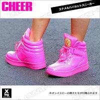 【CHEER】エナメルハイカットスニーカー