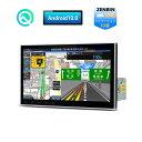 (DA100L) XTRONS Android 10.0 カーナビ 1din 10インチ 大画面 静電式車載PC ゼンリン16GB地図付 RAM2G カーステレオ カーオーディオ マルチウィンドウ 角度調整可 Bluetooth GPS OBD2 DVR 4G WIFI ミラーリング