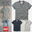 【新品】 アバクロ Tシャツ ヘンリーネック メンズ 半袖 Abercrombie&Fitch 本物 正規品 通販