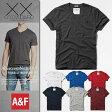 【新品】 アバクロ Tシャツ Vネック メンズ 半袖 Abercrombie&Fitch 本物 正規品 通販