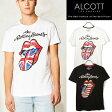 ショッピングイタリア アルコット Tシャツ メンズ ローリングストーンズ 半袖 ユニオンジャック デザイン アメカジ ALCOTT イタリア Italy インポート 本物 正規品