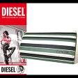 ディーゼル DIESEL 財布 長財布 本革 X02937 PR400 H5424 ホワイトグリーン ストライプ