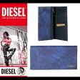 ディーゼル DIESEL 財布 長財布 本革 X03340 P0598 T6014 ブルー