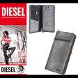 ディーゼル DIESEL 財布 長財布 ラウンドファスナー ジップ パスポートケース 本革 X03135 P0517 T8085 グレー