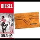 ディーゼル DIESEL キーケース 6連 本革 X03934 PR227 2216 キャメル