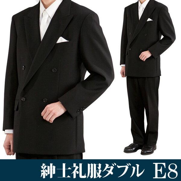 【レンタル】礼服 レンタル[E8ダブル][身長180〜185][106cm][ダブル]ダブル礼服E8[オールシーズン][礼服レンタル][喪服レンタル]fy16REN07