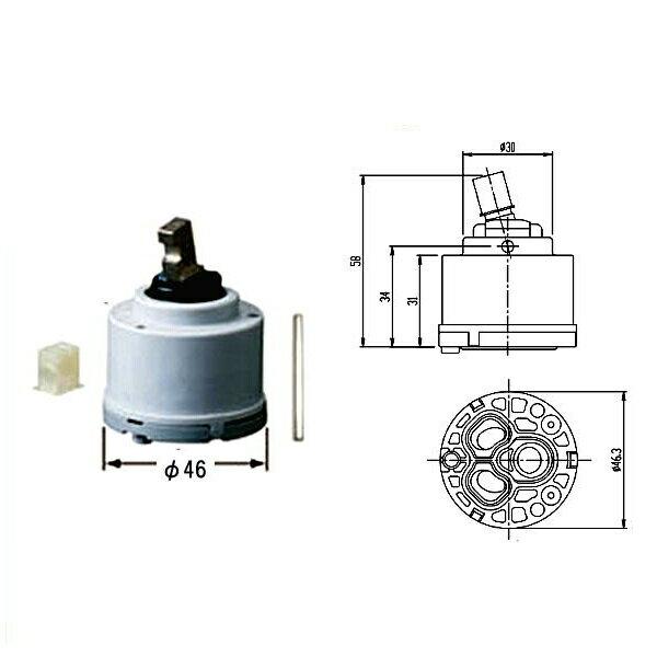 INAX シングルレバーヘッドパーツ A-1943-10