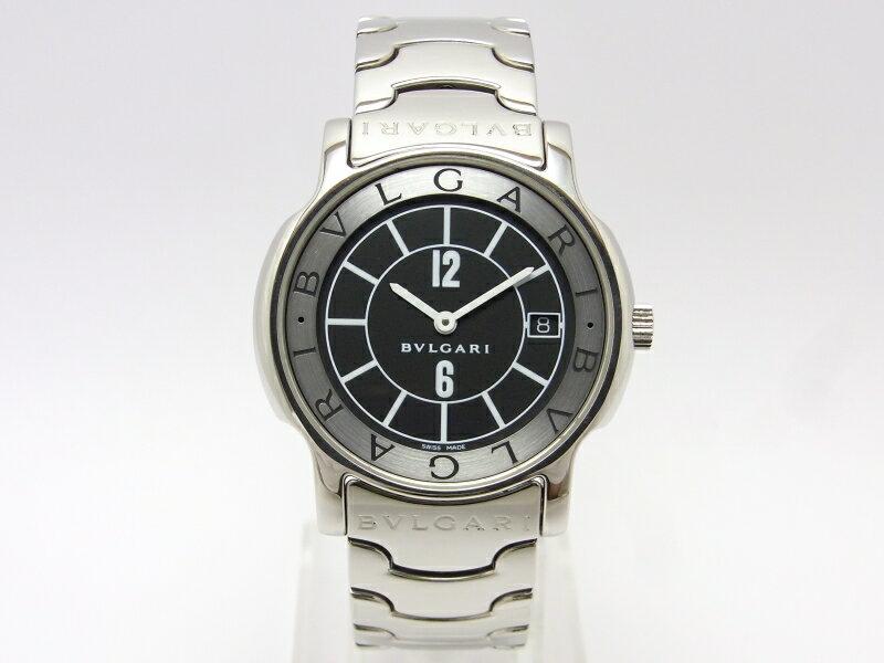 【】【程度A】【仕上げ済み】ブルガリ ソロテンポ メンズ ST35S ブラック文字盤 腕時計 【送料無料】【手数料無料】