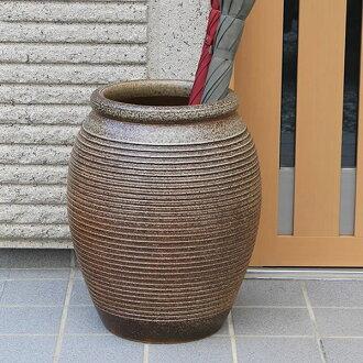 Shin Raku kiln skin 1000-umbrella stand (pot)! The Interior of the door! Pottery / Shigaraki ware or freshly pottery umbrella stand / Japanese style umbrella stand / pottery / umbrella set up, and pot / vase / while when / umbrella-holder, Casa Tote new