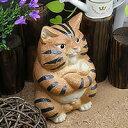 ボスねこ置物信楽焼!陶器の可愛いネコ置物!インテリア/しがらきやき/ねこ/やきもの/猫置物/猫/縁起物/ギフト[ok-0052]