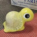 信楽焼 き3号福亀(黄色)長寿・金運にご利益あり 陶器かめ置き物 カメ やきもの 縁起物 しがらき ...