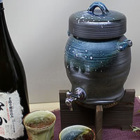 ◆ character put allowed ◆ 1 Shou for Shigaraki shochu Server! With the Cup 2 customers! Ware server of shochu will be famous! Put the Shinshu Shigaraki Pottery / ceramics shochu server / name / gift
