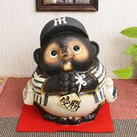 信楽焼 阪神タイガース優勝お願い狸 福を呼ぶ縁起物のタヌキ 信楽焼きたぬき 陶器たぬき 狸 タヌキ たぬき ta-0032
