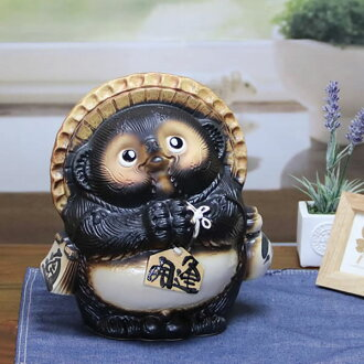 Shigaraki Tanuki Tanuki and while when Tanuki pottery pottery Tanuki raccoon dog figurine while when Shine pottery Tanuki raccoon Shigaraki name put the characters into 9 please Pom [ta-0004] 10P01Oct16