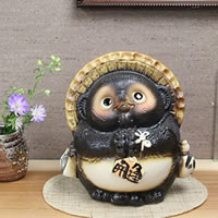7 Ask raccoon! Good luck Shigaraki raccoon! And good luck raccoon / Pom / pottery Tanuki and raccoon figurines / pottery / while big Shine / pottery / raccoon Shigaraki please Pom [ta-0005]