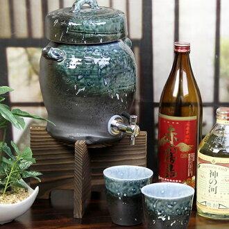 ◆ character put allowed ◆ 1 Shou for Shigaraki shochu Server! With the Cup 2 customers! Ware server of shochu will be famous! Put the Shinshu Shigaraki Pottery / ceramics shochu server / name / gift