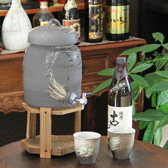 ◆ character put allowed ◆ Shigaraki ware 2 for shochu Server! With the Cup 2 customers! Ware server of shochu will be famous! Put the Shinshu Shigaraki Pottery / ceramics shochu server / name / gift