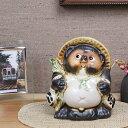 信楽焼5号福たぬき!信楽焼たぬき縁起物タヌキ/陶器タヌキ/たぬき置物/やきもの/しがらきやき/焼き物
