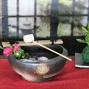 つくばい 信楽焼 竹付き鉢 陶器つくばい 金魚鉢 めだか鉢 スイレン鉢 竹付き鉢 しがらきやき 手洗い鉢 花器 花入れ [tu-0012]