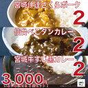 ポークカレー・牛タンカレー・牛すじカレーのお得な6個パック 税込・送料無料で3000円!が今なら2700円でご提供!3月31日まで