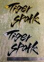 【メール便可】Tiger Spark(タイガースパーク)ワッペン(中)