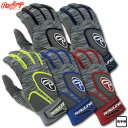 2018年モデル ローリングス バッティング手袋 両手用 USAサイズ規格 5150GBGJP 5色展開