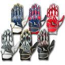 2017年モデル ミズノ MIZUNO バッティング手袋 両手用 セレクトナイン 1EJEA140 6色展開