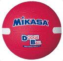 ミカサ(MIKASA) 教育用白線入りドッジボール1号 レッド