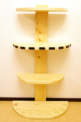 【家具職人の作ったロッドスタンド】RS-11ピース用標準穴9本用ヒノキ無垢材使用受注生産品