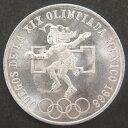 【メキシコ】 メキシコオリンピック 25ペソ銀貨 1968年 未使用 【銀貨】