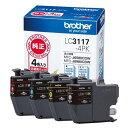 ブラザー LC3117-4PK 【純正】 インクカートリッジ お特用4色パック