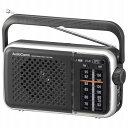 オーム電機 RAD-T450N AM/FMポータブルラジオ