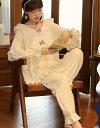 レディースパジャマ 長袖 ルームウェア 上下2点セットアップ メリヤス綿 宮廷風 可愛い お姫様風 5デザイン レディース春秋冬