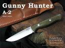 Bark River / バークリバーナイフ #BA012MGC Gunny Hunter ガニーハンター/A2,グリーンキャンバスマイカルタ