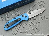 BENCHMADE/ベンチメイド#555HG-BLUミニ・グリップティリアンシルバー直刃ブルーハンドル2