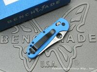 BENCHMADE/ベンチメイド#555HG-BLUミニ・グリップティリアンシルバー直刃ブルーハンドル4