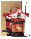 お祝いの席に欠かせない朱色の角樽。甲州笹子の厳しい寒さと銘水が生み出した銘酒。【寿】の角樽山梨の銘酒・本醸造酒年越し特集2007