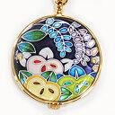 懐中時計 橘(紫) 着物に似合う存在感 京七宝 懐中時計 記念品・プレゼントにも