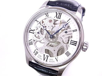 Oh, it is 300 POS EPOS-limited 3369SK men rolling by hand clock SS X leather skeleton clockface