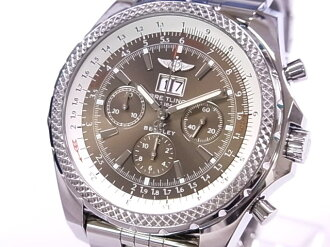 6.75 BREITLING Brightman ring A44362 Bentley speed SS brown clockface self-winding watches