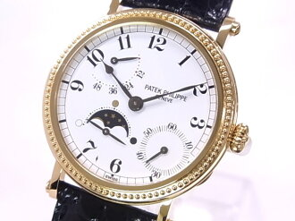 PATEK PHILIPPE Patek Philippe 5015 YG J Petit complication × white-Edition Auto leather