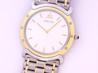 SEIKO SEIKO 5A74 クレドール SSxYG silver clockface quartz