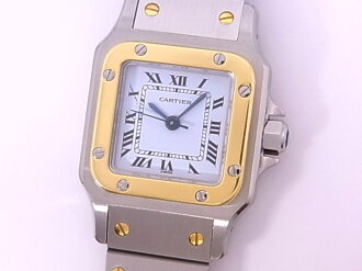 Cartier CARTIER サントスガルベ SM SSxYG white clockface self-winding watch