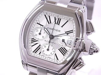 Cartier CARTIER W62019X6 Roadster chronograph SS silver character dial automatic movement